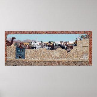De muur van de Geit - Dahab, Zuid-Sinai Poster