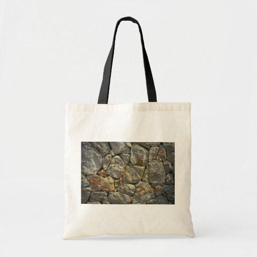 De muur van de steen canvas tassen