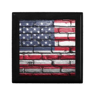 De Muur van de V.S. Amerika van de vlag schilderde Decoratiedoosje