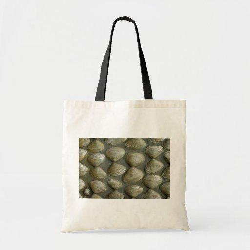 De muur van de zeeschelp canvas tassen