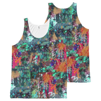 De Muur van Graffiti en de Verf van de Nevel All-Over-Print Tank Top