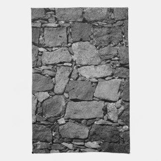 De muur van het basalt theedoek