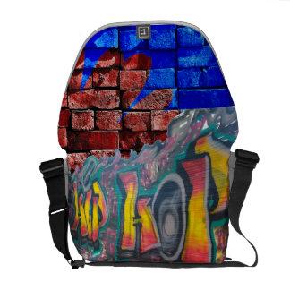 De Muur van het label Messenger Bags