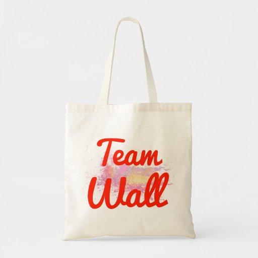 De Muur van het team Canvas Tassen