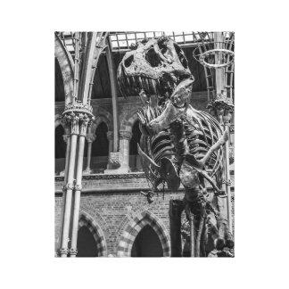 """""""De muurart. van het Skelet t-Rex"""" Canvas Afdruk"""