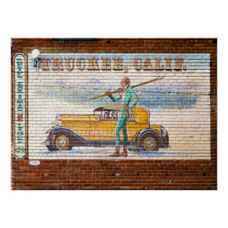 De Muurschildering 2012 van Californië van Truckee Poster