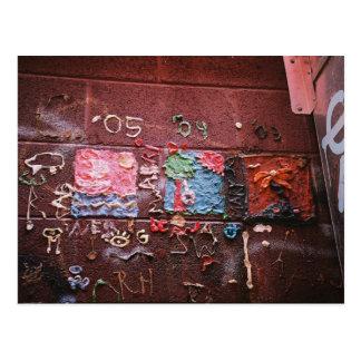 De Muurschildering van de gom Briefkaart