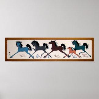 De Muurschildering van het Paard van Chalee van de Poster
