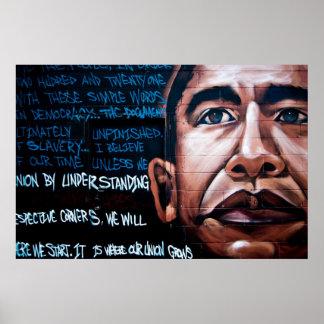 De Muurschildering van Obama van Barack & Poster