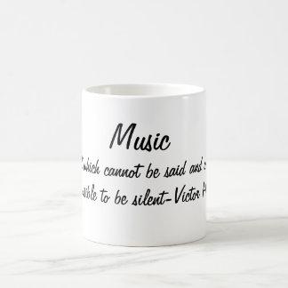 De muziek drukt… koffiemok