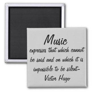 De muziek drukt… vierkante magneet
