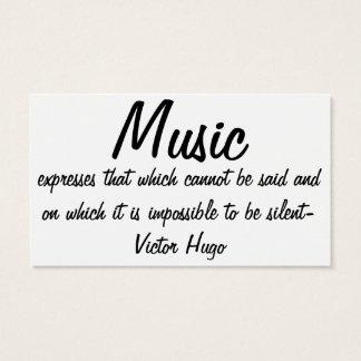 De muziek drukt… visitekaartjes
