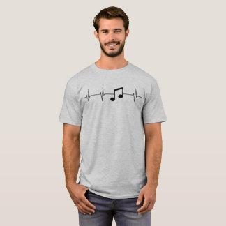 De muziek houdt mijn Afstraffing van het Hart T Shirt