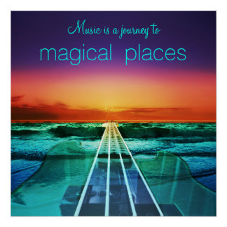 De muziek is een Reis aan het Magische Poster van