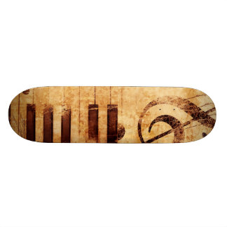 De muziek is het Leven Skateboard