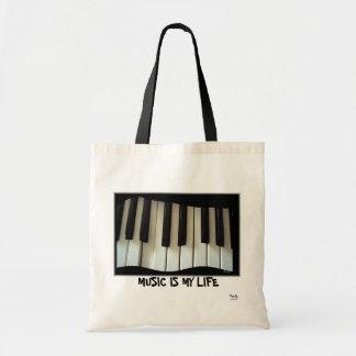 De muziek is mijn Canvas tas van het Leven