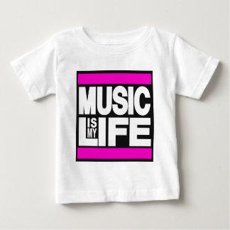 De muziek is Mijn Roze van het Leven Baby T Shirts