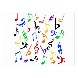 De muziek neemt nota van Briefkaart - Multi