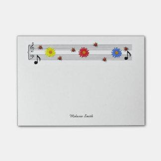 De muziek neemt nota van de Nota's van de Post-it Post-it® Notes