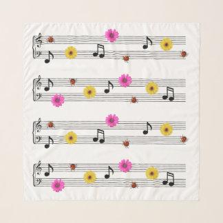 De muziek neemt nota van de Vierkante Sjaal van de