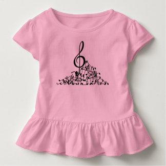 De muziek neemt nota van het Overhemd van de Ruche Kinder Shirts