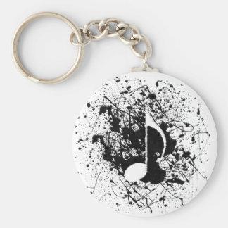 De muziek ploetert sleutelhanger