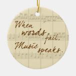 De muziek spreekt kerstboom ornament