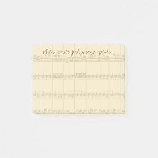 De muziek spreekt post-it® notes