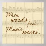 De muziek spreekt posters