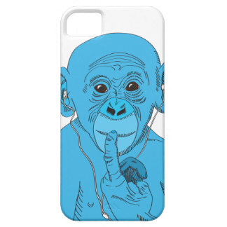 De Muziek van de aap Barely There iPhone 5 Hoesje