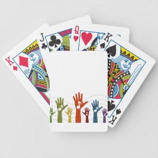De muziek van de hand pak kaarten