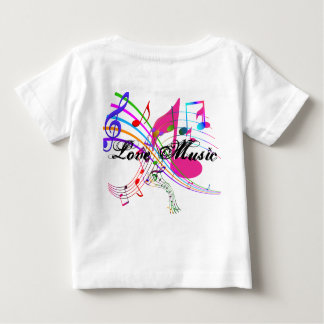 De Muziek van de liefde Baby T Shirts