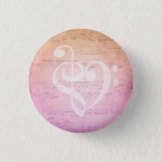 De Muziek van de liefde Ronde Button 3,2 Cm