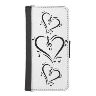 De Muziek van de Liefde van de Sleutel van de iPhone 5 Portemonnee Hoesje