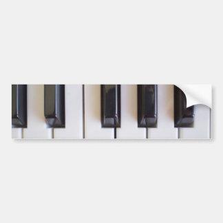 De Muziek van de piano Bumpersticker
