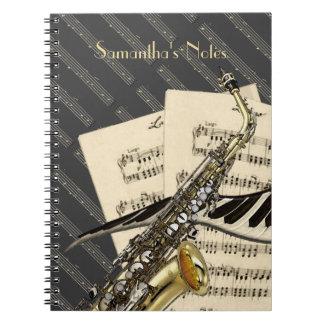 De Muziek van de saxofoon & van de Piano Notitie Boeken