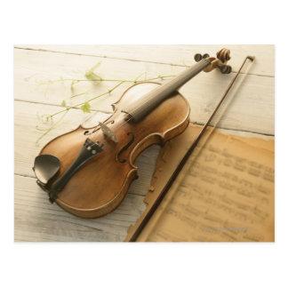 De Muziek van de viool en van het Blad Briefkaart