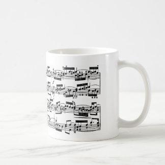 De Muziek van het blad door Bach Koffiemok