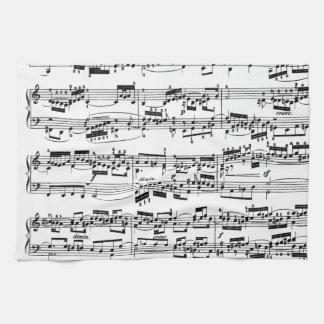 De Muziek van het blad door Bach Theedoek