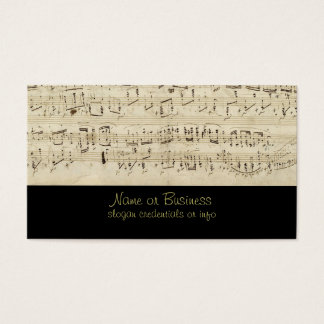 De Muziek van het blad op Perkament Met de hand Visitekaartjes
