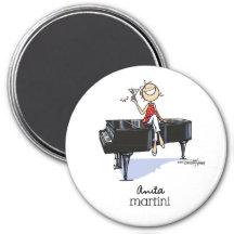 De Muziek van Martini van dames Koelkast Magneetje