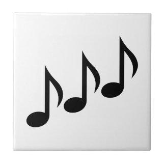 De muziek van nota's keramisch tegeltje
