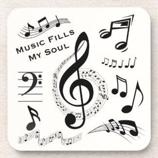 De muziek vult Mijn Muzieknoten van het Citaat van Onderzetter
