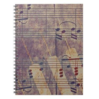 De muziek, wijnoogst kijkt B Notitie Boek