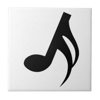 De Muzieknoot van Semiquaver Keramisch Tegeltje