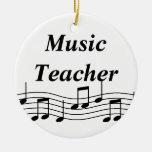 De Muzieknoten van de Leraar van de muziek Kerst Ornament