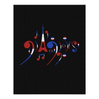 De Muzieknoten van Parijs Flyer 11,4 X 14,2 Cm