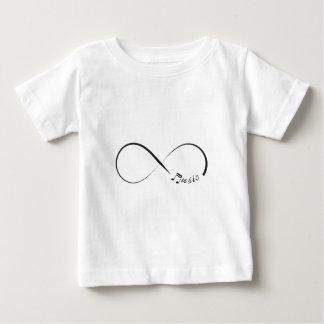 De muzieksymbool van de oneindigheid baby t shirts