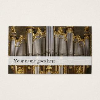 De muziekvisitekaartjes van het orgaan - de visitekaartjes