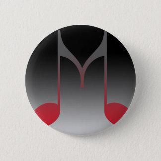 """De muzikale Brief van """"M"""" Ronde Button 5,7 Cm"""